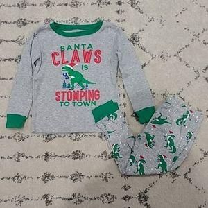 Carter's Christmas Dinosaur Cotton Pajama Set